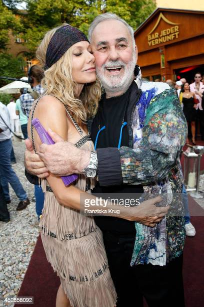 Ursula Karven and Udo Walz attend Udo Walz's 70th Birthday celebration at Bar jeder Vernunft July 28 2014 in Berlin Germany
