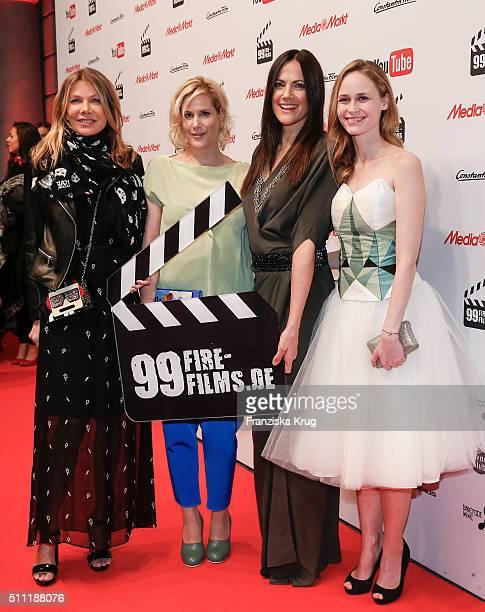 Ursula Karven Anika Decker Bettina Zimmermann and Inez Bjoerg David attend the 99FireFilmAward 2016 at Admiralspalast on February 18 2016 in Berlin...