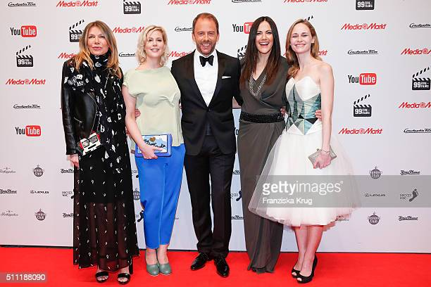 Ursula Karven Anika Decker Stefan Kiwit Bettina Zimmermann and Inez Bjoerg David attend the 99FireFilmAward 2016 at Admiralspalast on February 18...