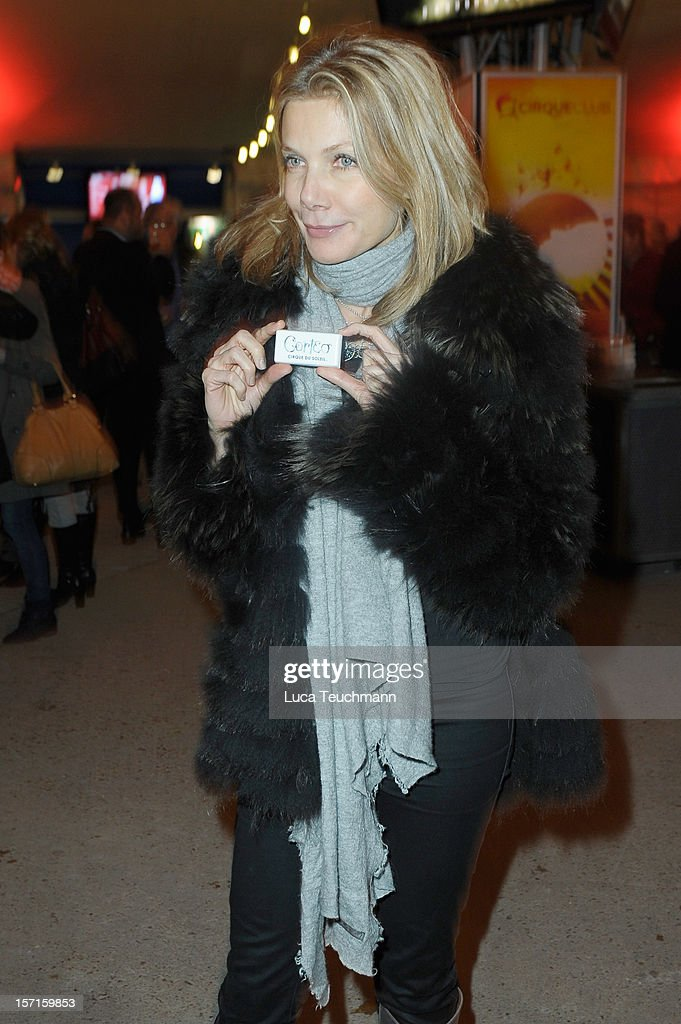 Ursula Karven attends Cirque Du Soleil Germany Premiere at Corteo Berlin - Under the Grand Chapiteau on November 29, 2012 in Berlin, Germany.