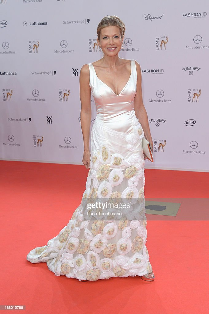 <a gi-track='captionPersonalityLinkClicked' href=/galleries/search?phrase=Ursula+Karven&family=editorial&specificpeople=2093658 ng-click='$event.stopPropagation()'>Ursula Karven</a> attends the Bambi Awards 2013 at Stage Theater on November 14, 2013 in Berlin, Germany.