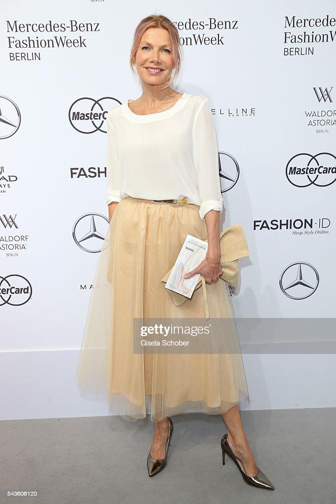 Ursula Karven attends the Minx by Eva Lutz show during the MercedesBenz Fashion Week Berlin Spring/Summer 2017 at Erika Hess Eisstadion on June 29...