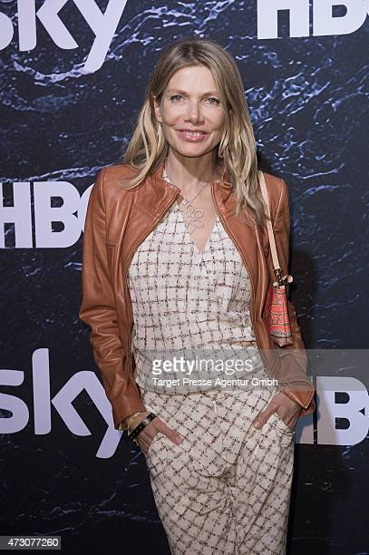 Ursula Karven attends the pre opening party of the exhibition 'Game of Thrones Die Ausstellung' on May 12 2015 in Berlin Germany