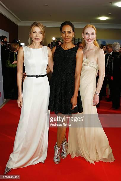 Ursula Karven Barbara Becker and Andrea Sawatzki attend the GLORIA German Cosmetic Award at Hilton Hotel on March 21 2014 in Duesseldorf Germany