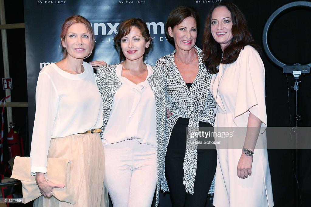 Ursula Karven Carolina Vera designer Eva Lutz and Natalia Woerner attend the Minx by Eva Lutz show during the MercedesBenz Fashion Week Berlin...