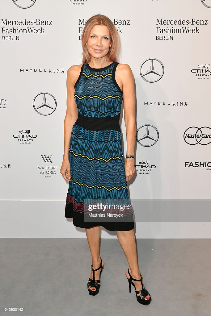 <a gi-track='captionPersonalityLinkClicked' href=/galleries/search?phrase=Ursula+Karven&family=editorial&specificpeople=2093658 ng-click='$event.stopPropagation()'>Ursula Karven</a>, dressed by Peek & Cloppenburg, attends the 'Designer for Tomorrow' show during the Mercedes-Benz Fashion Week Berlin Spring/Summer 2017 at Erika Hess Eisstadion on June 30, 2016 in Berlin, Germany.