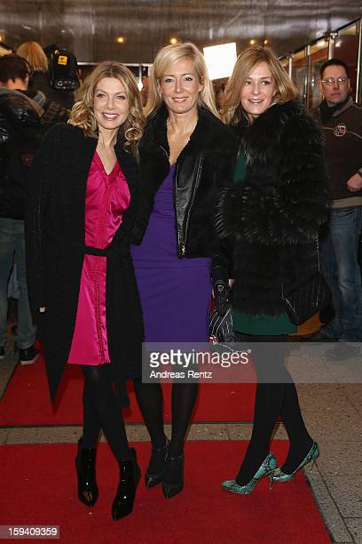 Ursula Karven Judith Milberg and Mon Muellerschoen attend the 'GeruechteGeruechte' premiere at Theater am Kurfuerstendamm on January 13 2013 in...