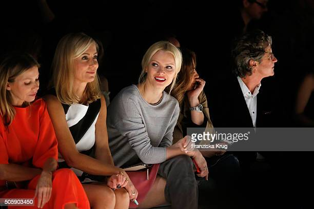 Ursula Karven Judith Milberg Franziska Knuppe Simone Thomalla and Florian Langenscheidt attend the Laurel show during the MercedesBenz Fashion Week...