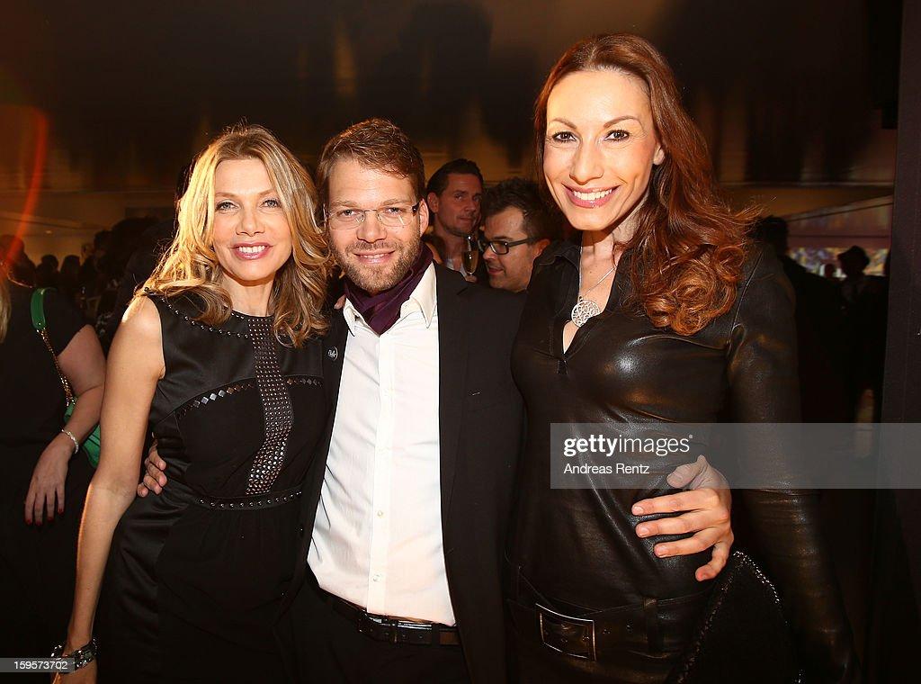 Ursula Karven, Kai Rose and Dagmar Koegel attend Flair Magazine Party at Pariser Platz 4 on January 15, 2013 in Berlin, Germany.