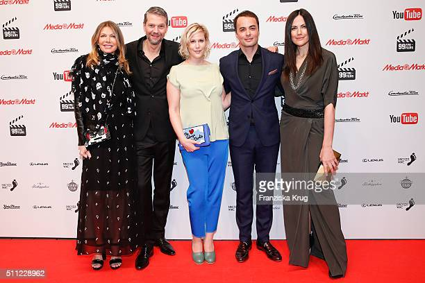 Ursula Karven Kai Wiesinger Anika Decker Nikolai Kinski and Bettina Zimmermann attend the 99FireFilmAward 2016 at Admiralspalast on February 18 2016...