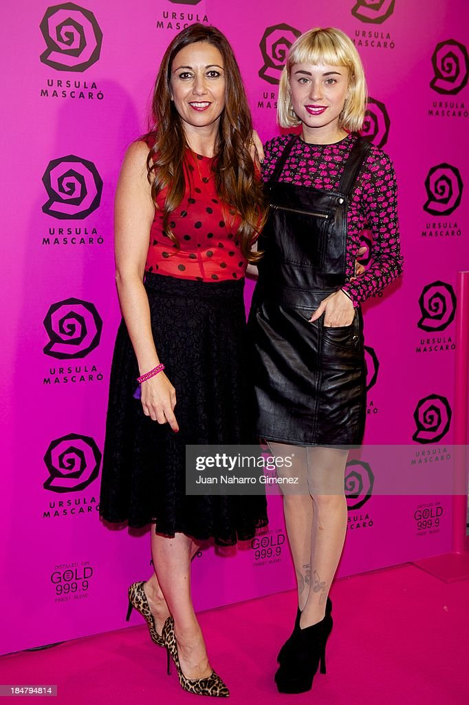 Ursula Mascaro (L) and Miranda Makaroff (R) attend Ursula Mascaro opening store at Ursula Mascaro store on October 16, 2013 in Madrid, Spain.