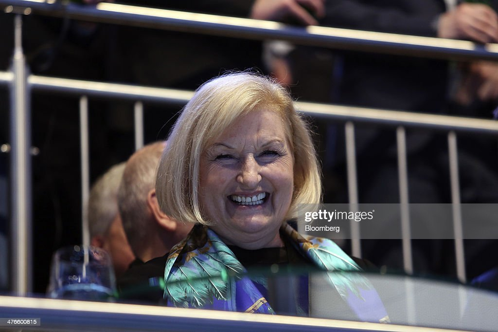 Ursula Piech, a member of the executive board at Volkswagen AG, reacts during a news conference ahead of the opening day of the 84th Geneva International Motor Show in Geneva, Switzerland, on Monday, March 3, 2014. The International Geneva Motor Show will run from Mar. 4, and showcase the latest models from the world's top automakers. Photographer: Chris Ratcliffe/Bloomberg via Getty Images