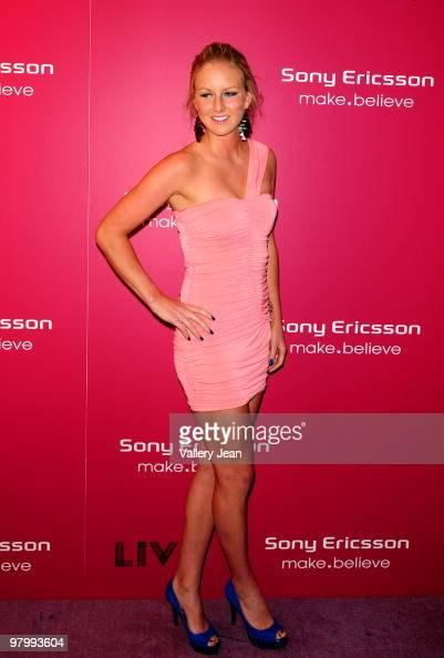 Urszula Radwanska arrives at Sony Ericsson Open kick off party at LIV nightclub at Fontainebleau Miami on March 23 2010 in Miami Beach Florida