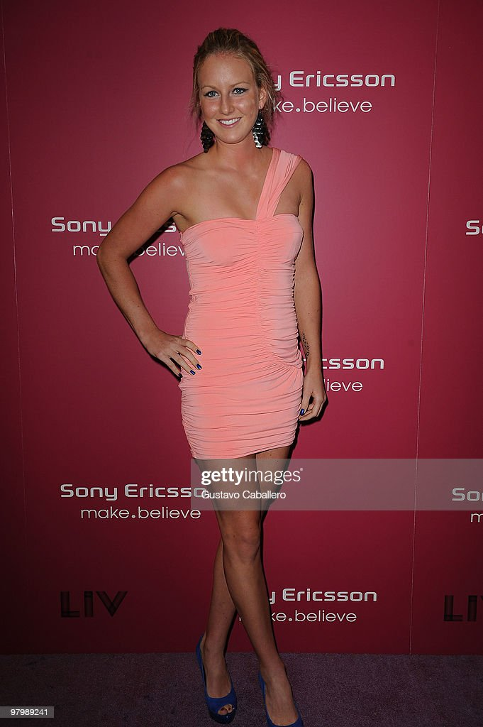 Urszula Radwanska attends The Sony Ericsson Open KickOff Party at LIV nightclub at Fontainebleau Miami on March 23 2010 in Miami Beach Florida