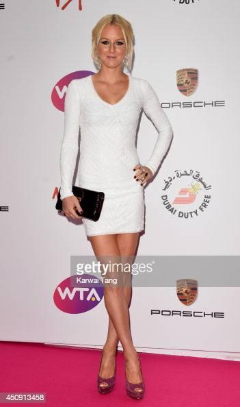 Urszula Radwanska attends the WTA PreWimbledon party at Kensington Roof Gardens on June 19 2014 in London England