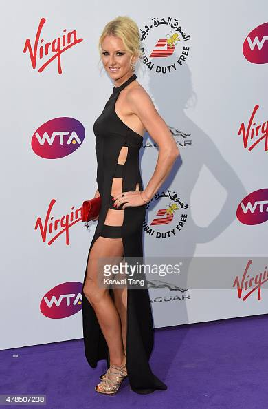Urszula Radwanska attends the WTA PreWimbledon Party at Kensington Roof Gardens on June 25 2015 in London England