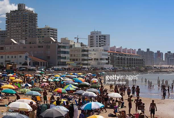 Uruguay, Punta del Este, Playa El Emir beach