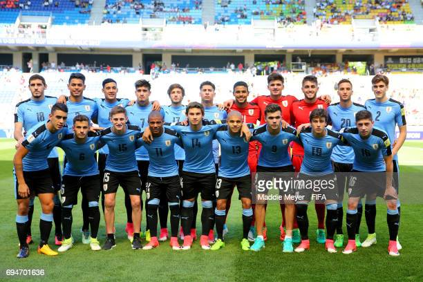 Uruguay stands for a team photo before the FIFA U20 World Cup Korea Republic 2017 3rd rank playoff match between Uruguay and Italy at Suwon World Cup...