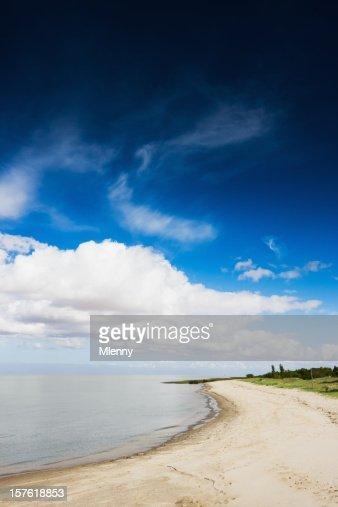 Uruguay Summer White Sandy Beach