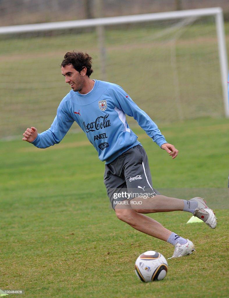 Uruguayan footballer Diego Godin during