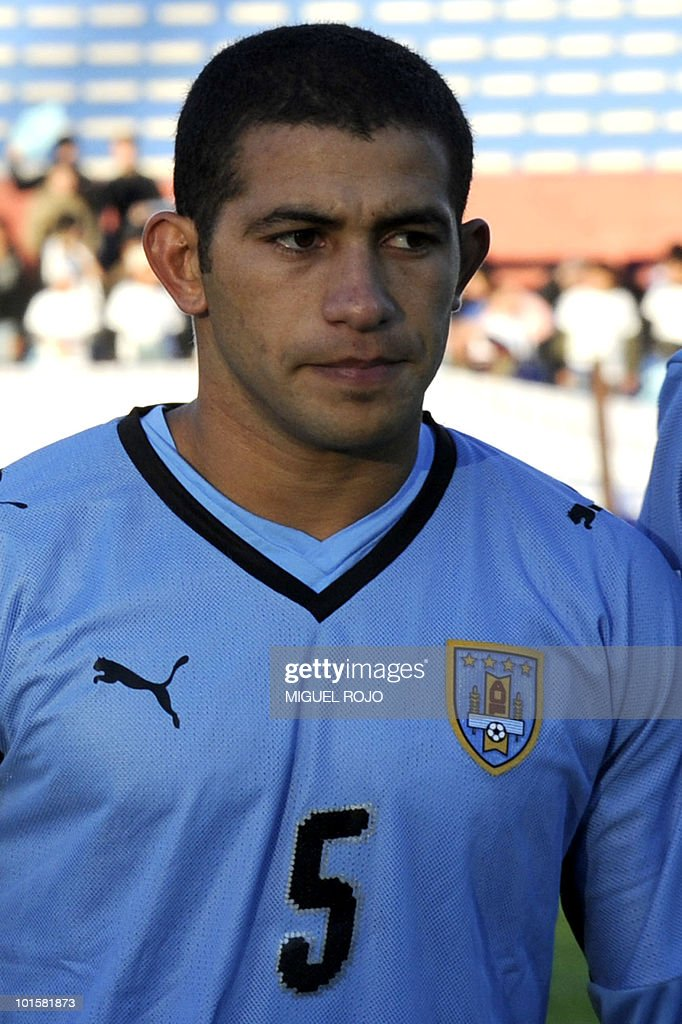 Uruguayan national football team player Walter Gargano poses for the picture before a FIFA World Cup South Africa 2010 qualifier football match against Colombia at the Centenario stadium in Montevideo on September 9, 2009. Uruguay won the match 3-1. AFP PHOTO / Miguel ROJO