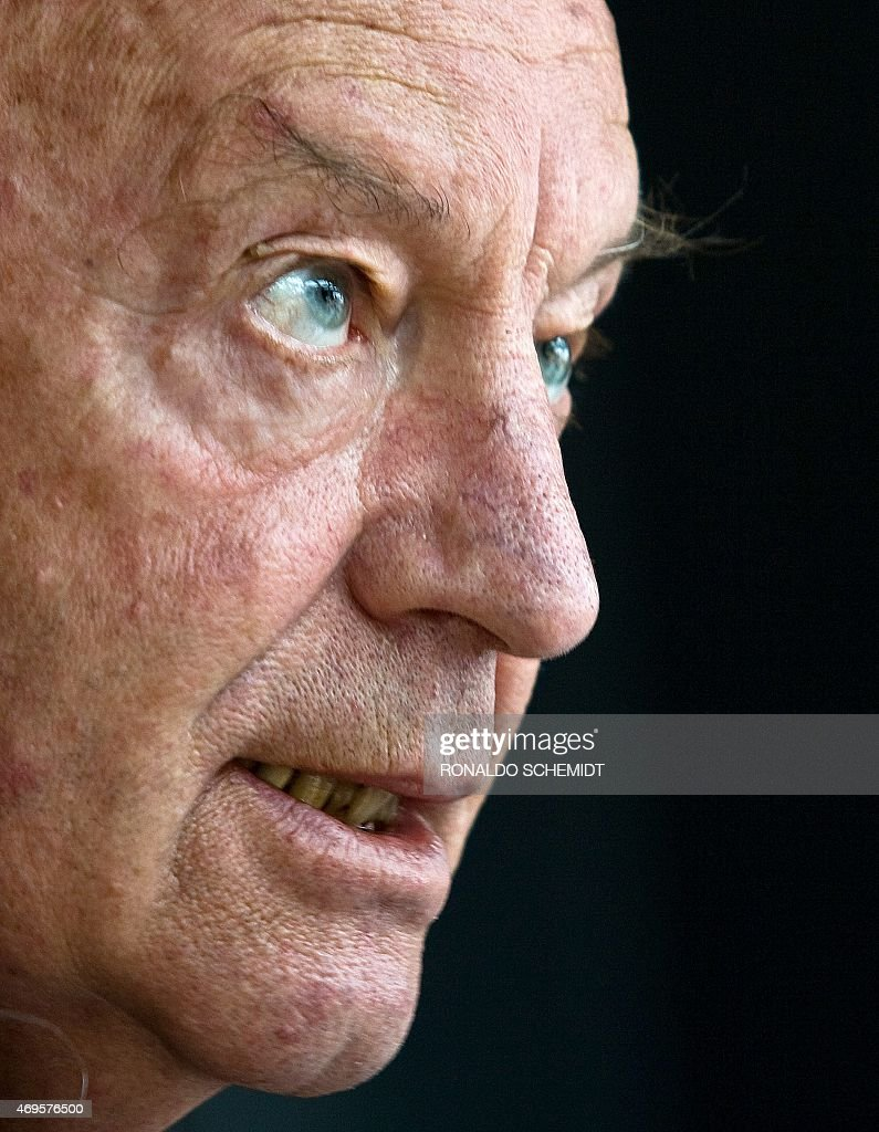 Uruguayan writer <a gi-track='captionPersonalityLinkClicked' href=/galleries/search?phrase=Eduardo+Galeano&family=editorial&specificpeople=2578757 ng-click='$event.stopPropagation()'>Eduardo Galeano</a> speaks during an interview with the AFP at the Sheraton Hotel in Mexico City, on April 3, 2009. Galeano died in Montevideo on April 13, 2015 at the age of 74. AFP PHOTO/Ronaldo Schemidt