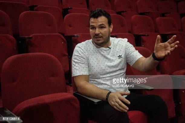 UruguayanColombian former goalkeeper Alexis Viera seriously injured on August 2015 during an armed robbery is interviewed by AFP in Cali Colombia on...