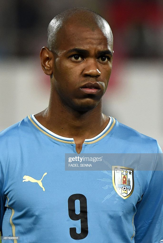 Uruguay's Diego Rolan gestures during the friendly match between Morocco and Uruguay in Agadir on March 28, 2015.