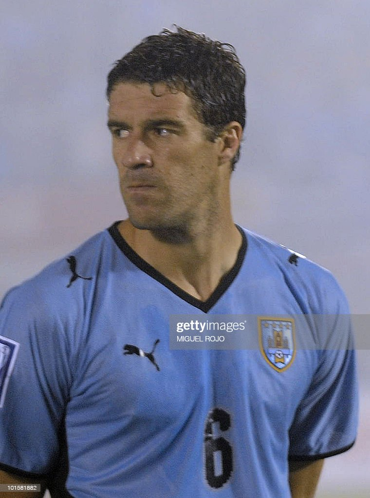 Uruguay's player Andres Scotti before the FIFA World Cup South Africa 2010 qualifier second play-off football match against Costa Rica at Centenario Stadium in Montevideo on November 18, 2009. AFP PHOTO / Miguel ROJO