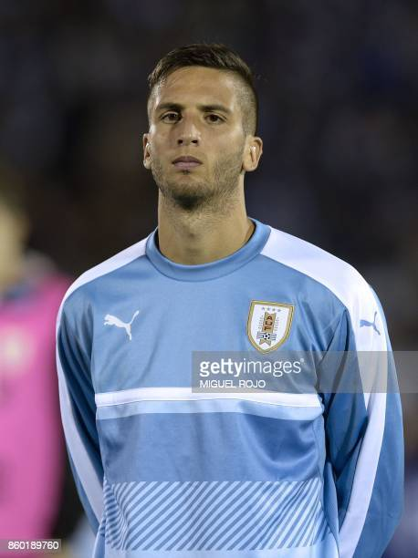 Uruguay's Rodrigo Bentancur poses before the 2018 World Cup football qualifier match against Bolivia in Montevideo on October 10 2017 / AFP PHOTO /...