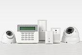 Zestaw urządzeń systemu alarmowego  telewizja przemysłowa