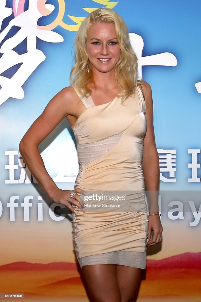 Urzula Radwanska of Poland arrives on the red carpet before the player party for the 2013 China Open at the InterContinental Hotel Beijing Beichen on...
