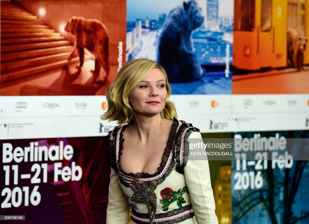 Us actress Kirsten Dunst attends a photo call for the film ' Midnight Special by Jeff Nichols' screened in competition of the 66th Berlinale Film Festival in Berlin on February 12, 2016. / AFP / John MACDOUGALL