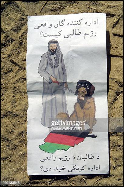 Us Air Force Throws AntiBin Laden Pamphlets On The Spin Boldak Area During Its Series Of Bombings On June 12Th 2001 In Chaman Pakistan The Pamphlet...