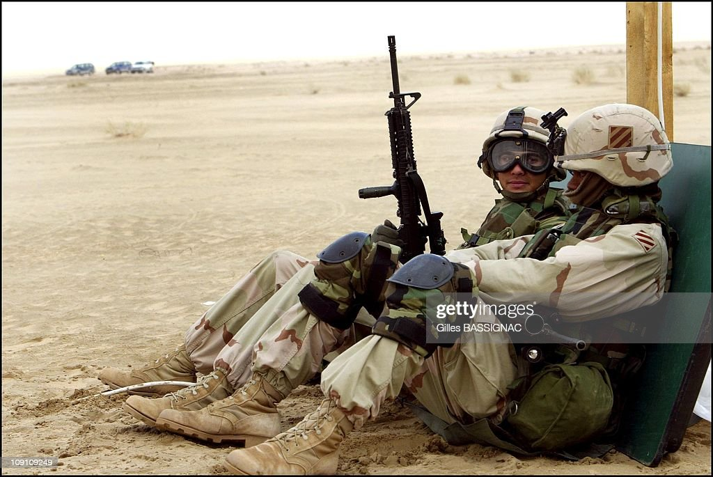 Us Troops Train 7 Miles From The Iraqi Border Near Camp New York On January 21Th Kuwait