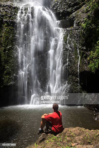 Usa, Hawaii, Maui, Waterfall
