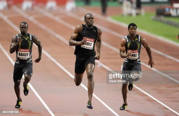 Usain BOLT 100m Golden League Meeting Areva 2009 Stade de France Paris Photo Dave Winter / Icon Sport