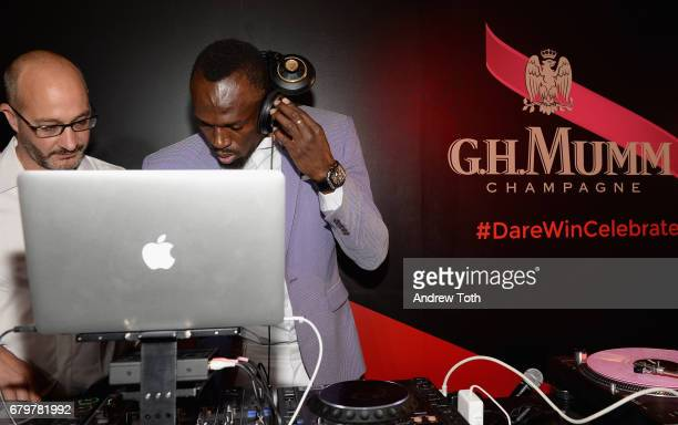 Usain Bolt and Didier Marotti attend GH Mumm and Usain Bolt's Toast to the Kentucky Derby on May 6 2017 in New York City