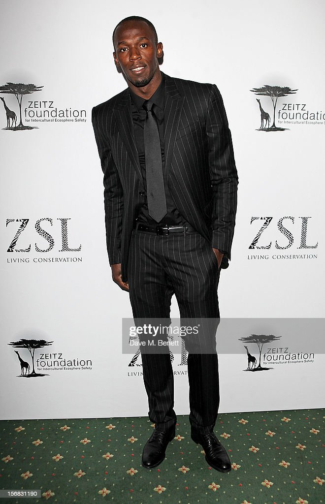 <a gi-track='captionPersonalityLinkClicked' href=/galleries/search?phrase=Usain+Bolt&family=editorial&specificpeople=604196 ng-click='$event.stopPropagation()'>Usain Bolt</a> arrives at the Zeitz Foundation and ZSL Gala at London Zoo on November 22, 2012 in London, England.