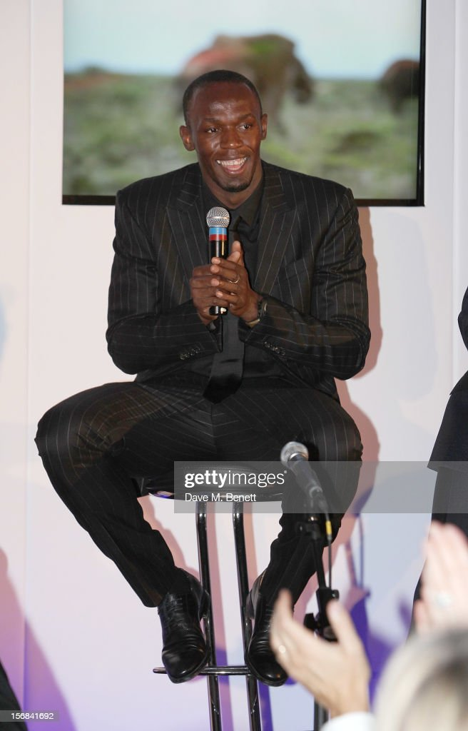 Usain Bolt attends the Zeitz Foundation and ZSL Gala at London Zoo on November 22, 2012 in London, England.