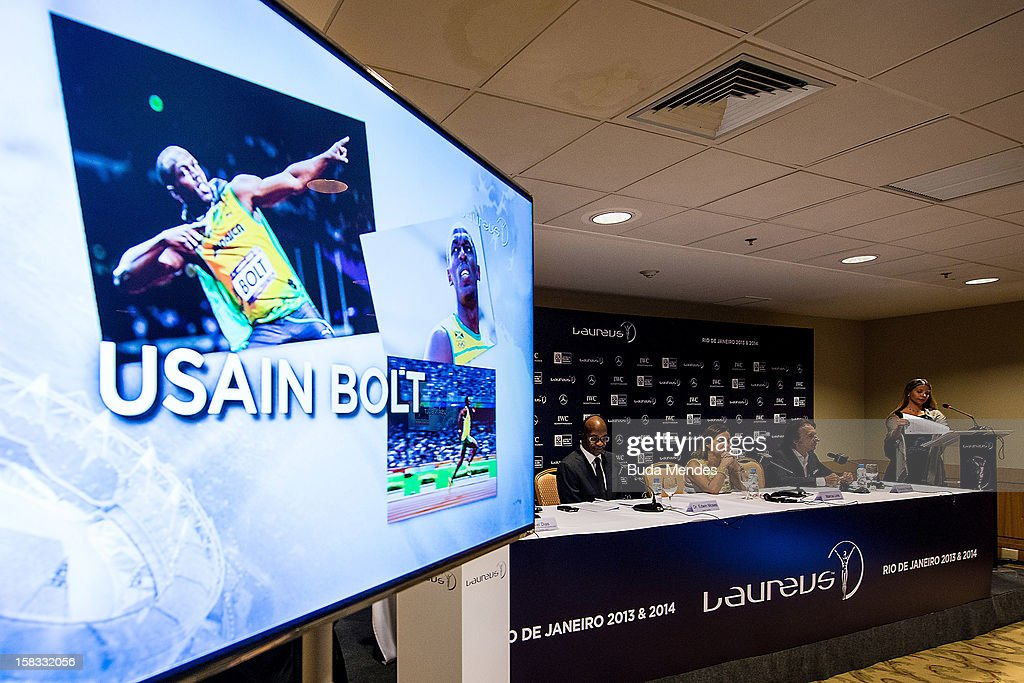<a gi-track='captionPersonalityLinkClicked' href=/galleries/search?phrase=Usain+Bolt&family=editorial&specificpeople=604196 ng-click='$event.stopPropagation()'>Usain Bolt</a> is one of the Nominees for the 2012 Laureus World Sports Awards at Windsor Atlantica Hotel on December 13, 2012 in Rio De Janeiro, Brazil. The Laureus World Sports Awards is recognised as the premier honours event in the international sporting calendar as stars of the sporting world come together to salute the finest sportsmen and sportswomen of the year.