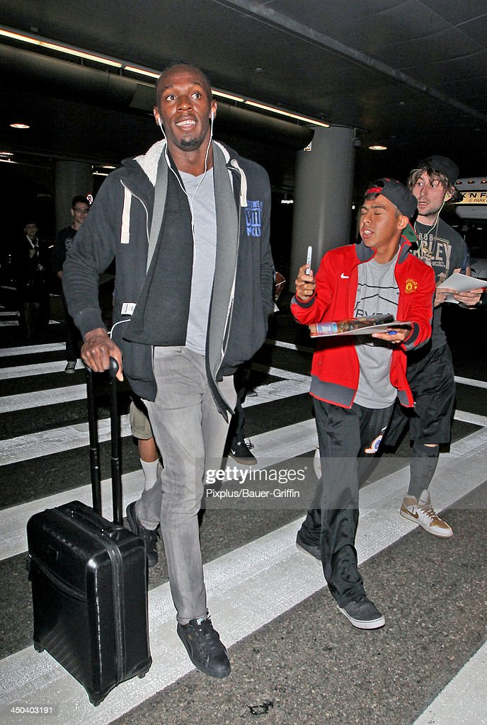 Usain Bolt is seen on November 17, 2013 in Los Angeles, California.