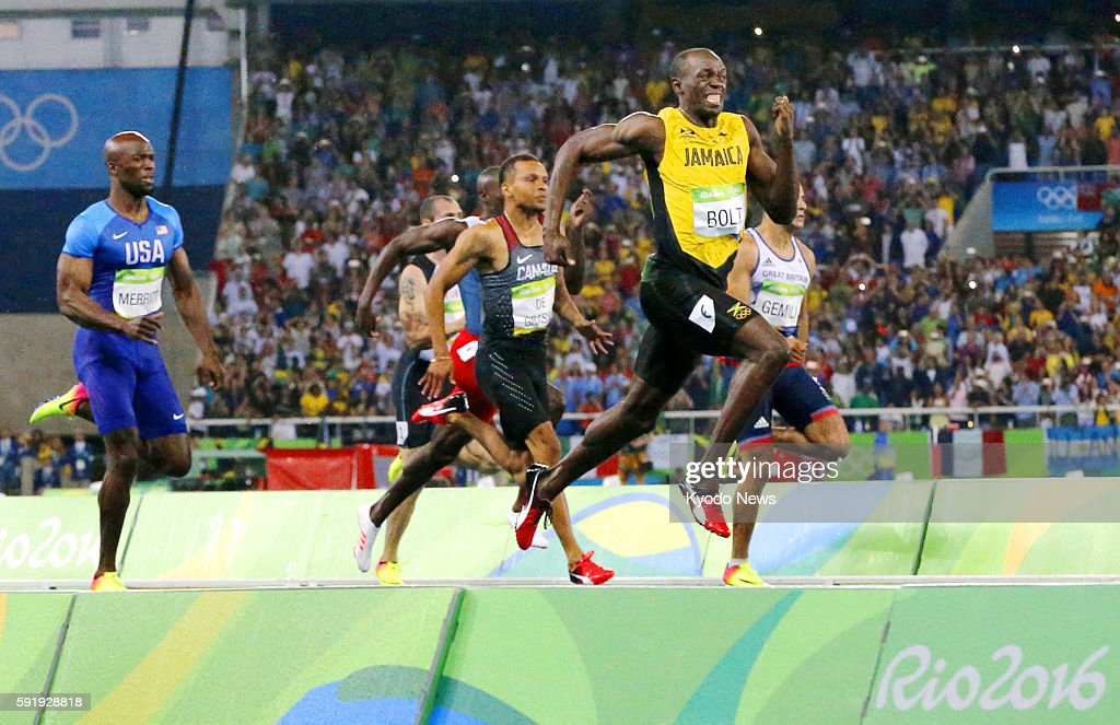 Usain Bolt of Jamaica runs en route to winning the men's 200meter gold medal at the Rio de Janeiro Olympics on Aug 18 2016 Bolt completed his third...