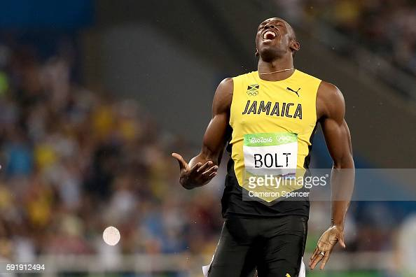 Usain Bolt of Jamaica wins the Men's 200m Final on Day 13 of the Rio 2016 Olympic Games at the Olympic Stadium on August 18 2016 in Rio de Janeiro...