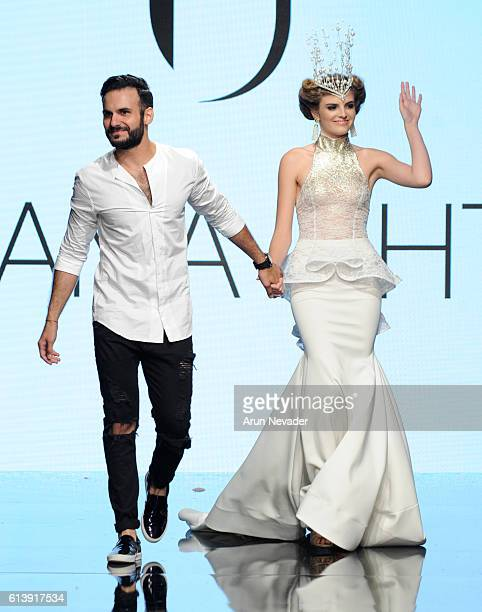 Usama Ishtay fashon designer walks the runway at Art Hearts Fashion Los Angeles Fashion Week presented by AIDS Healthcare Foundation on October 10...
