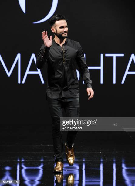 Usama Ishtay walks the runway at Art Hearts Fashion LAFW Fall/Winter 2017 Day 1 at The Beverly Hilton Hotel on March 14 2017 in Beverly Hills...