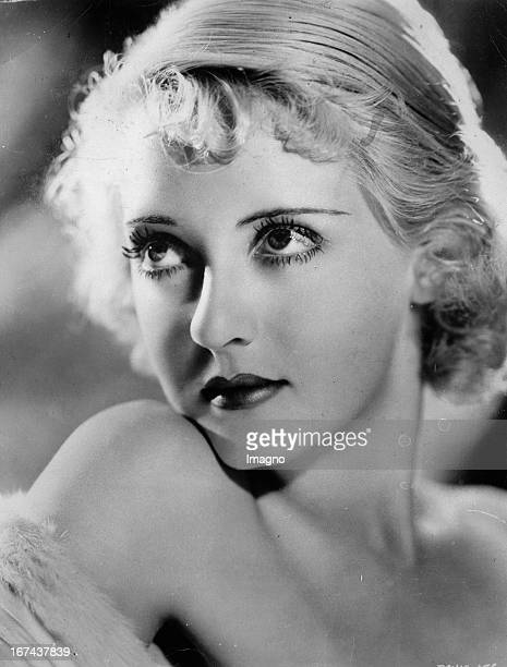 USamerican actress Bette Davis About 1930 Photograph Die USamerikanische Schauspielerin Bette Davis Um 1930 Photographie