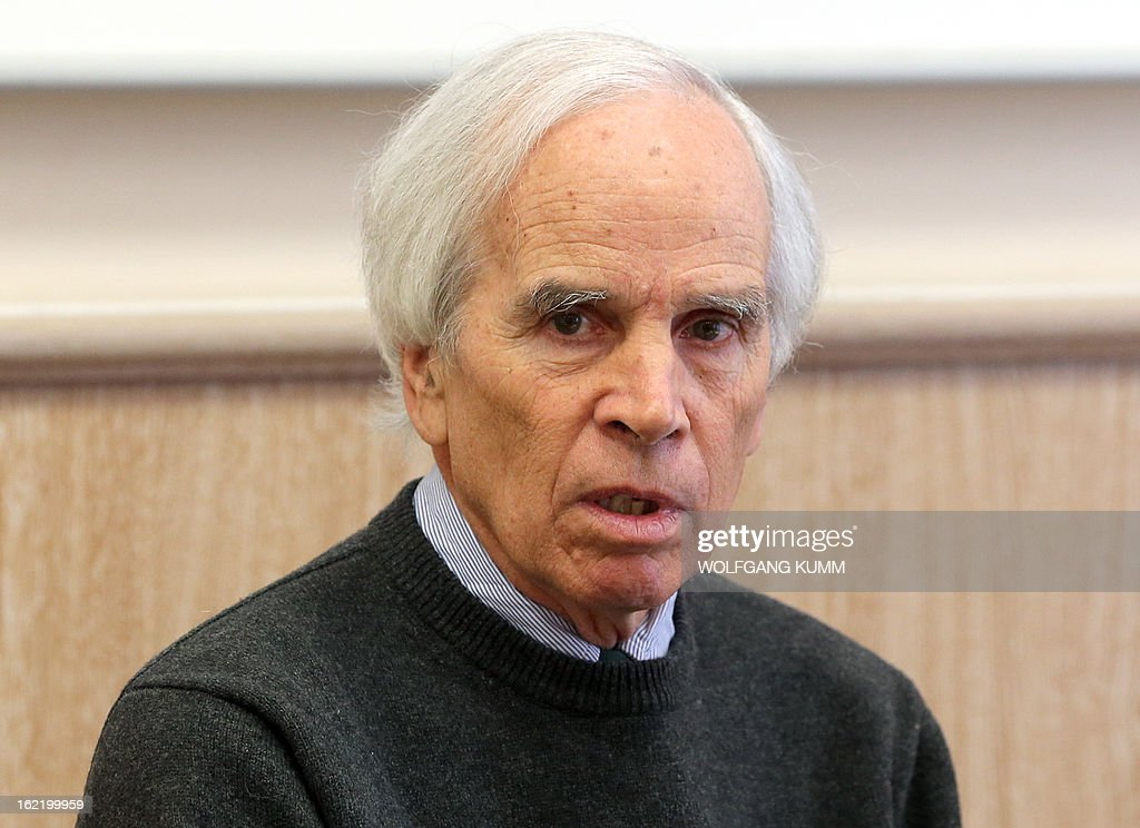 US-American enviromentalist and former businessman Doug Tompkins attends a press conference of the German League for Nature Protection (Deutscher Naturschutzring) in Berlin, Germany on February 20, 2013. Tompkins co-founded clothing company The North Face and ESPRIT and dedicates himself to enviromental activism and land conservation since selling his shares in 1989. AFP PHOTO / WOLFGANG KUMM GERMANY OUT