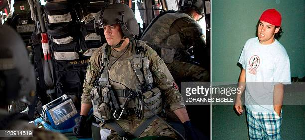 USattacks911anniversaryAfghanistanmilitaryFOCUS by Katherine Haddon This combo of two photographs shows US Army Flight Medic Joshua Nash of the...