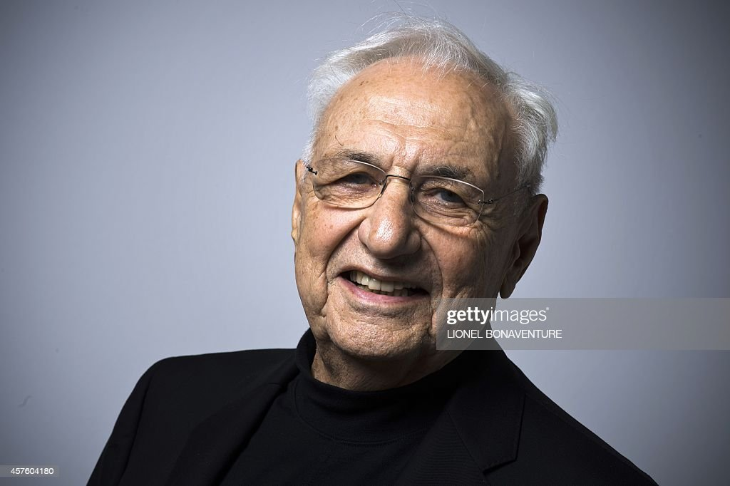USCanadian architect Frank Gehry poses on October 21 2014 at the Georges Pompidou Beaubourg art center in Paris AFP PHOTO / LIONEL BONAVENTURE